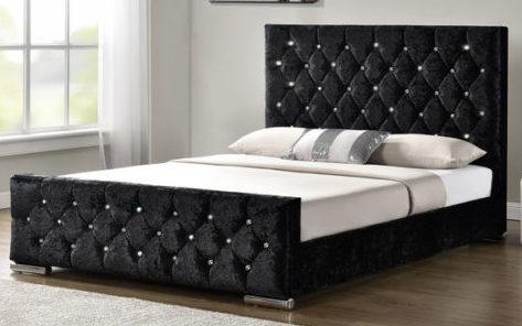 2ce1084b8e48 Naples Diamante Upholstered bed frame – Fusion Home Interiors
